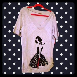NWT tee AVENUE gray top with fashion diva 14/16
